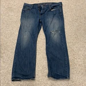 Dark blue American Eagle jeans relaxed